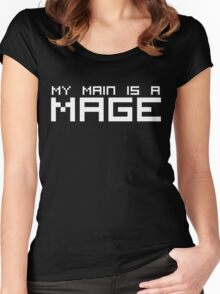 My Main is a Mage (Reversed Colours) Women's Fitted Scoop T-Shirt
