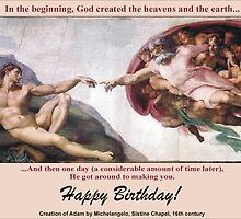 Michelangelo's The Creation of Adam by Harveylee