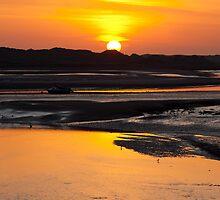 Ravenglass Estuary Sunset November 2011 by Jan Fialkowski