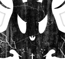 The Bunnisher - Black Weathered Sticker