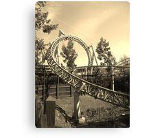 Thorpe Park Rollercoaster Canvas Print