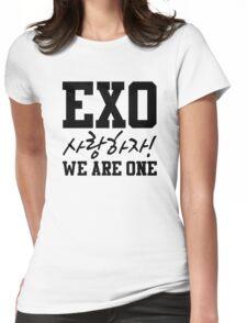 'EXO Saranghaja! We Are One' Womens Fitted T-Shirt