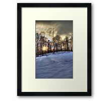 One Winter Evening Framed Print