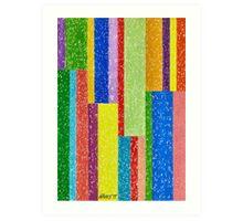 Verticolour - Brush And Gouache Art Print