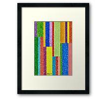 Verticolour - Brush And Gouache Framed Print