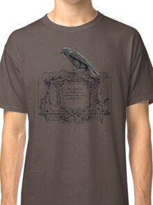 Edgar Allan Poe and Raven Classic T-Shirt