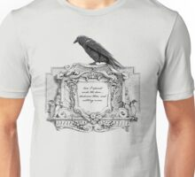 Edgar Allan Poe and Raven Unisex T-Shirt