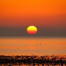 Allonby Sunset ~ November 2011 by Jan Fialkowski