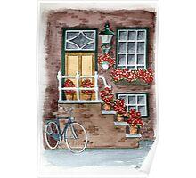 House in Amsterdam - Aquarel Poster