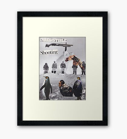 Irresistible Shooting  Framed Print