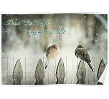 Mourning Dove Christmas Poster