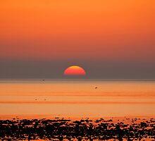 Allonby Sunset 2 ~ November 2011 by Jan Fialkowski