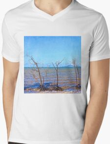 Dead mangroves after a cyclone Mens V-Neck T-Shirt