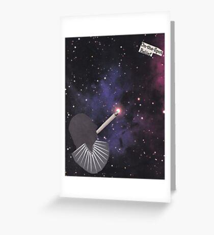 Smoking Space Greeting Card