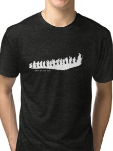 The Hobbit - There and back again... Silhouette T-Shirt Tri-blend T-Shirt