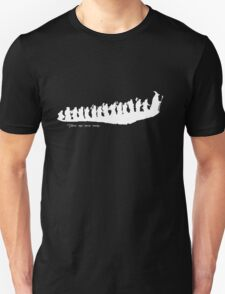 The Hobbit - There and back again... Silhouette T-Shirt Unisex T-Shirt