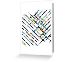 Crazy Brushes Greeting Card