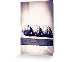 Three wallnut on a tea towel in black and white Greeting Card