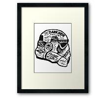 The Darkside Trooper Framed Print