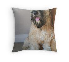 Cute English Soft Coated Wheaten Terrier 'Nutmeg' Throw Pillow