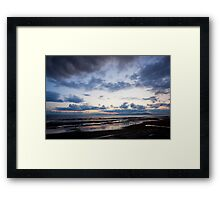 Dark Clouds over Allonby Shore ~ June 2011 Framed Print