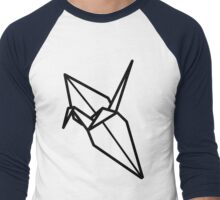 Origami Crane Men's Baseball ¾ T-Shirt