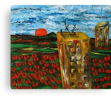 """Landscape with poppies"" Canvas Print"