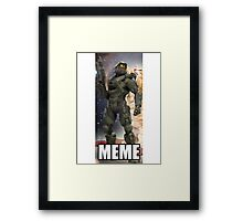 Master Chief Meme shirt Framed Print