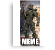 Master Chief Meme shirt Canvas Print