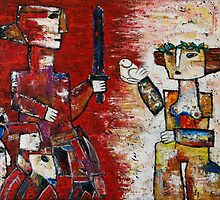 """Warrior and the maiden""  by Elin Bogomolnik"