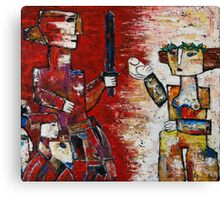 """""""Warrior and the maiden""""  Canvas Print"""