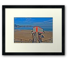 Tenby Lifeboat House Pembrokeshire 4 Framed Print