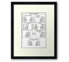 Therapy Technique #325 Framed Print