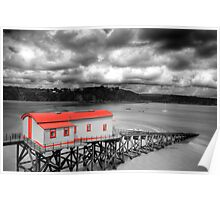 Tenby Lifeboat House Colour Pop 2 Poster