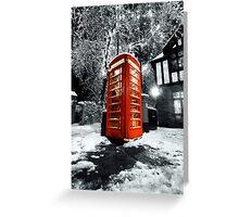 Winter phonebox Greeting Card