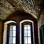 Inside Fort Point, San Francisco, California by Scott Johnson