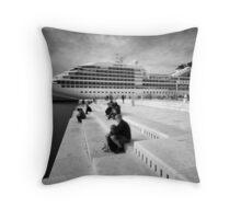 Zadar b&w VII Throw Pillow