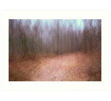Lane in November from a dream Art Print