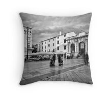Zadar b&w VI Throw Pillow