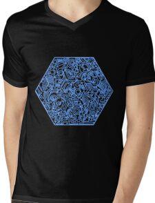 Blau Mens V-Neck T-Shirt