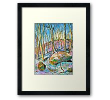 Quebec forest in autumn Framed Print