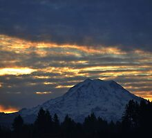 Sunrise on Mount Rainier by Kathy Yates