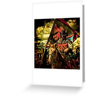 The Red Knight Rides Forth Greeting Card