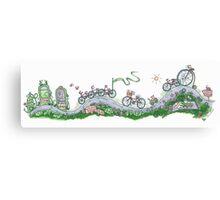 Wild and Free Bike Canvas Print