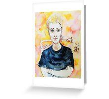 Beautiful Young Girl Greeting Card