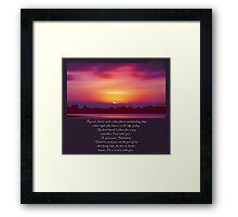 ~ Beyond Land's Reach ~ a collaboration with David Elder Framed Print