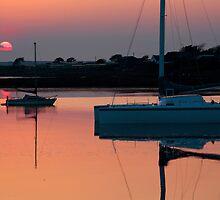 Ravenglass Estuary Sunset ~ May 2010 by Jan Fialkowski