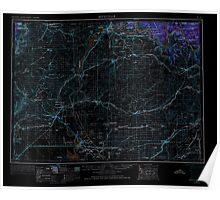 USGS Topo Map Washington State WA Ritzville 243471 1953 250000 Inverted Poster