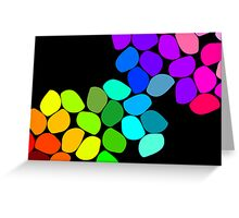 Coloured Pebbles Greeting Card