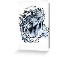 Tattoo Stetch Study - Squid Greeting Card